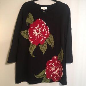 Jones New York sport Rose Sweater Women's 3x